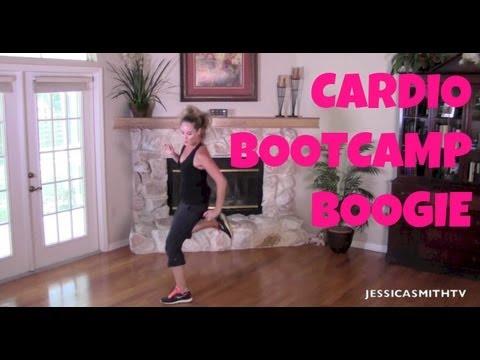 Burn fat, Burn calories, Aerobic, Full Length Workout Video: 25-Minute Cardio Bootcamp Boogie