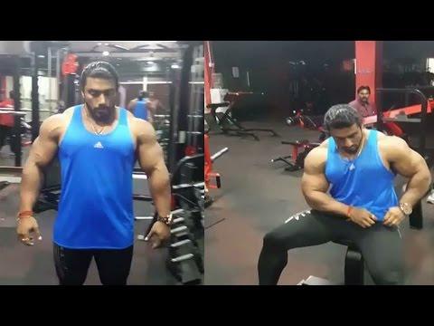 Mr universe sangram chougule Workout Video part 01