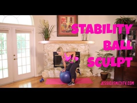 Exercise, Exercise Ball: Free Full Length Workout Video — Stability Ball Sculpt