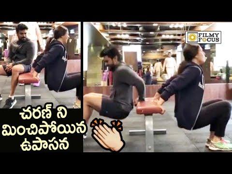 Ram Charan and Upasana GYM Workout Video : Exclusive – Filmyfocus.com