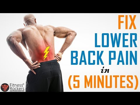 Fix Lower Back Pain in 5 Minutes | 5 Yoga Exercise for Back Pain Relief | Fitness Rockers