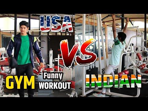 USA vs INDIAN Gym Workout// Funny Video // Ajju Jadhav //