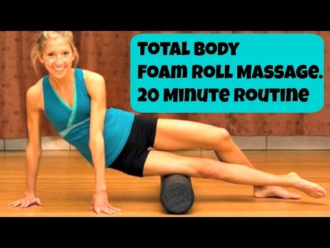 Total Body Foam Roller Exercise Video. After Workout Massage Routine