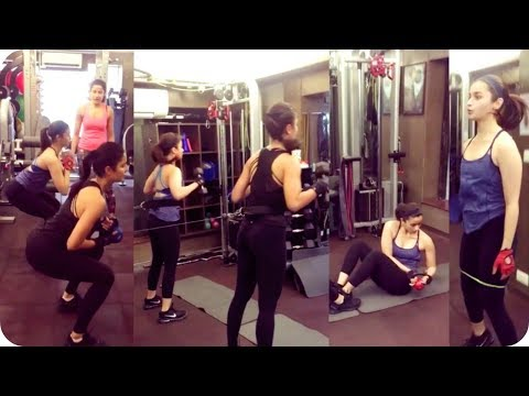 Katrina Kaif and Alia Bhatt Gym Workout Video Leake