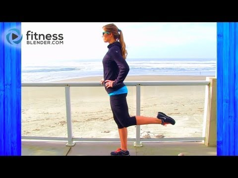 Butt and Thigh Barre Workout Video – Beach Barre Lower Body Workout for Long Lean Legs
