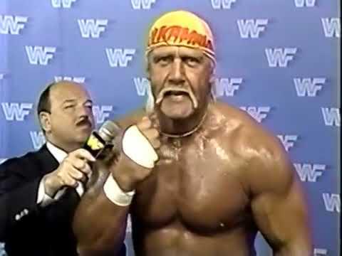 Hulk Hogan Interview but he is having an asthma attack (San Francisco Promo 1988)