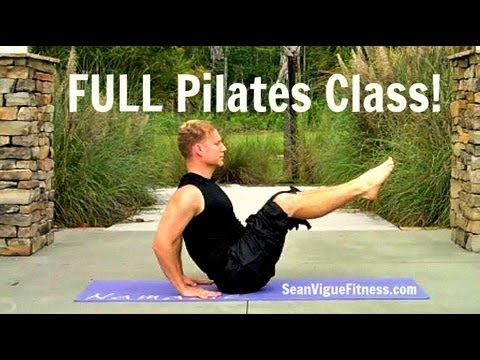 FULL 45 min Pilates Workout Video w/ Warm-Up & Cool Down from Sean Vigue Fitness #pilatesworkout