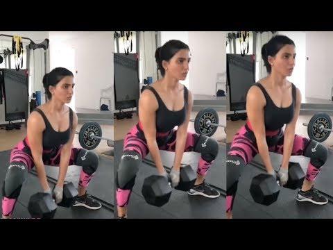 Samantha Akkineni GYM Workout Video   Actress #Samantha Hard workout At gym Video in Hyderabad