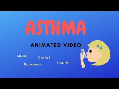 ASTHMA (animated video)! causes,symptoms,treatment,pathology!!
