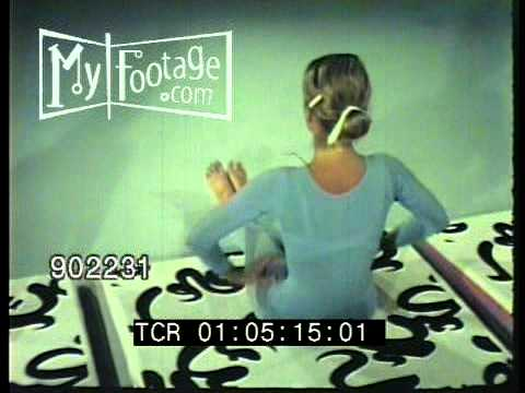 1970s SHAPE UP FOR FITNESS – WORKOUT VIDEO Stock Footage HD