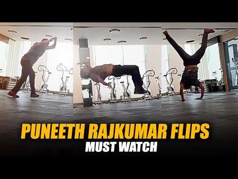 Puneeth Rajkumar At Gym  PowerStar  Appu Workout Video