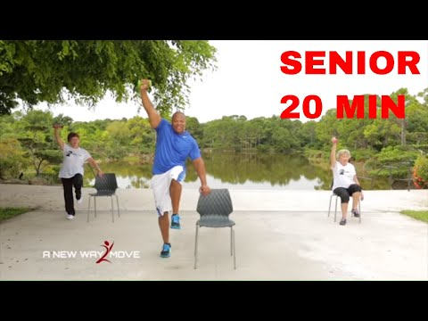 Exercise Videos for Seniors – Chair Exercise – Full 20 Min Workout!