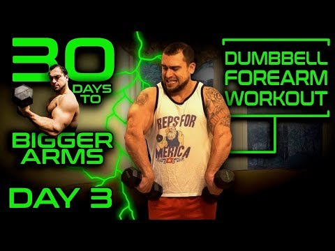 Intense Dumbbell Forearms Workout Video | 30 Days of Dumbbell Workouts At Home for Bigger Arms Day 3