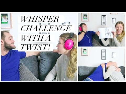 HUSBAND'S PREGNANCY REACTION – WHISPER CHALLENGE WITH A TWIST!! | THIS MAMA LIFE