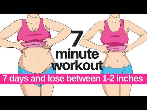 7 DAY CHALLENGE – 7 MINUTE WORKOUT TO LOSE BELLY FAT – HOME WORKOUT TO LOSE INCHES – START TODAY