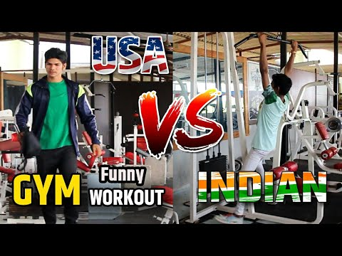 USA vs INDIAN Gym Workout// Funny Video // Ajju Jadhav //