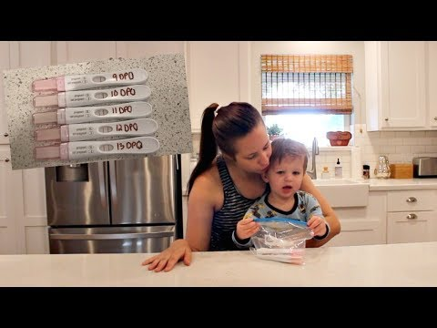 PREGNANCY TEST PROGRESSION LINE | DAY IN THE LIFE OF A PREGNANT STAY AT HOME MOM