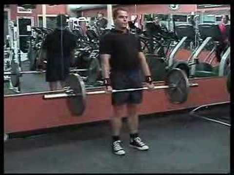Deadlift Exercise Weight Training Workout Video