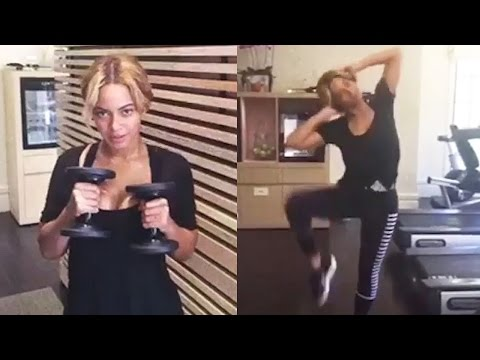 Beyonce Shares Awesome Workout VIDEO #GimmeFive