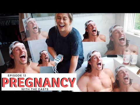 NFL husband tries labor pain simulation · pregnancy   the east family