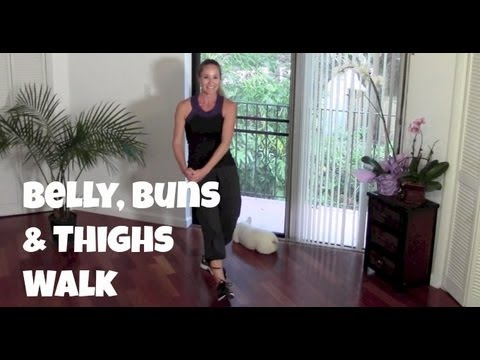 Belly, Buns & Thighs Walk – Full 40-Minute Indoor Walking Home Workout