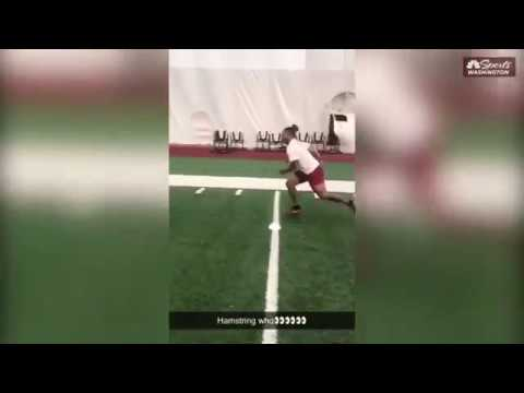 Redskins RB Derrius Guice Posts Workout Video on Snapchat After Reportedly Being Hurt (7-15-2019)