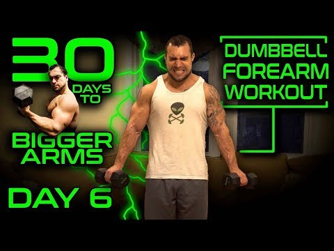 Intense Dumbbell Forearms Workout Video | 30 Days of Dumbbell Workouts At Home for Bigger Arms Day 6
