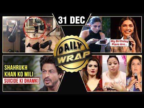 Shah Rukh Khan THREATEN€D, Deepika's New Year Plan, Sushmita's Workout Video | Top 10 News