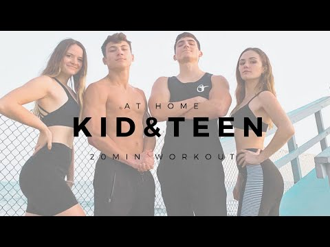 Kid & Teen at Home Workout Video led by Teenagers | 2020 COV 19