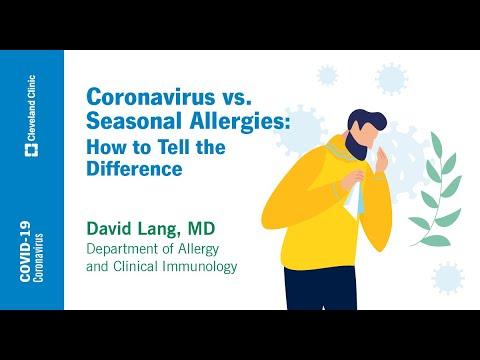 Coronavirus vs. Seasonal Allergies: How to Tell the Difference | David Lang, MD