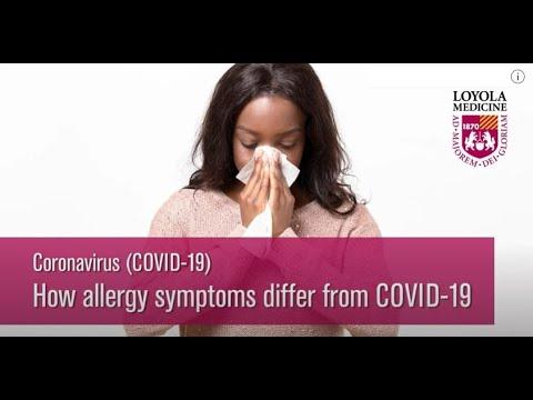 COVID-19: Allergy Symptoms vs. COVID-19 Symptoms