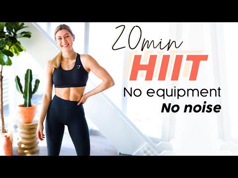 20 MIN HOME HIIT WORKOUT // No equipment, no noise, no impact