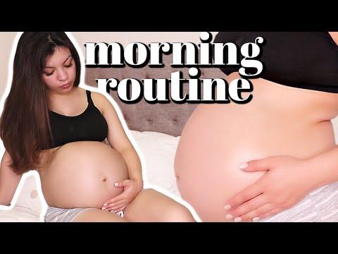 PREGNANCY MORNING ROUTINE | THIRD TRIMESTER