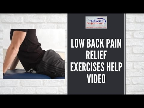 Low back pain relief exercises help video