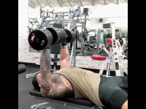 Roman Reigns – new short Workout Video / Chest day !