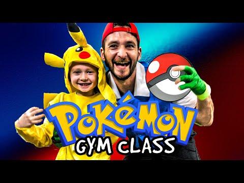 Kids Workout! POKEMON GYM CLASS! Real-Life VIDEO GAME! Kids Workout Videos, DANCE, & P.E. FUN!