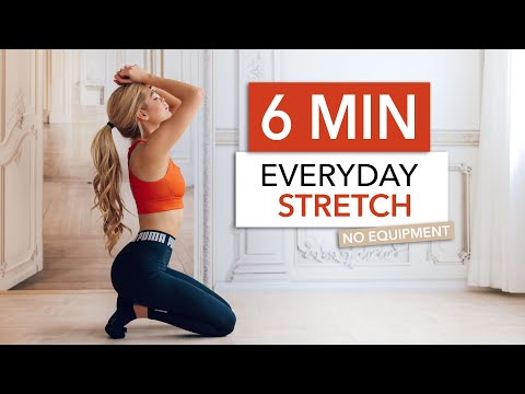 6 MIN EVERYDAY STRETCH – for stiff muscles, flexibility & after your workout I Pamela Reif