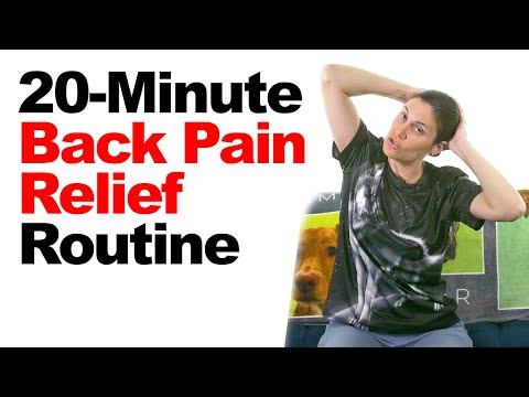 20-Minute Back Pain Relief Routine with Real-Time Stretches & Exercises