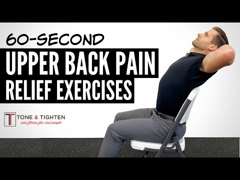 4 Exercises To Relieve Upper Back Pain in 60 Seconds