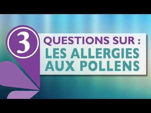 """3 questions sur : """"les allergies aux pollens"""""""