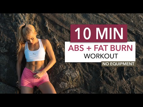 10 MIN ABS + FAT BURN – Floor Edition / burn fat to see the abs you train I Pamela Reif