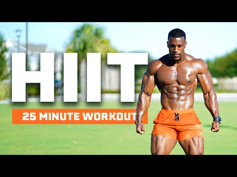 25 MINUTE INTERVAL HIIT WORKOUT (NO EQUIPMENT | BURN UP TO 500 CALORIES)