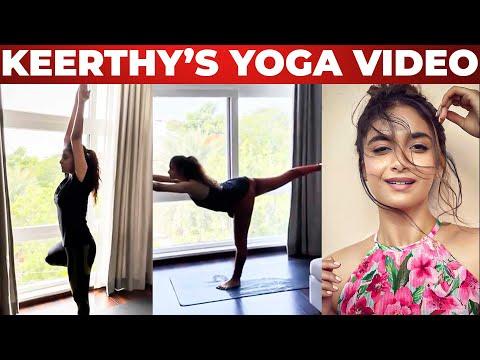 😍WOW: Keerthy Suresh Stunning Yoga Workout Video | Keerthy Suresh Weight Transformation | Ritika
