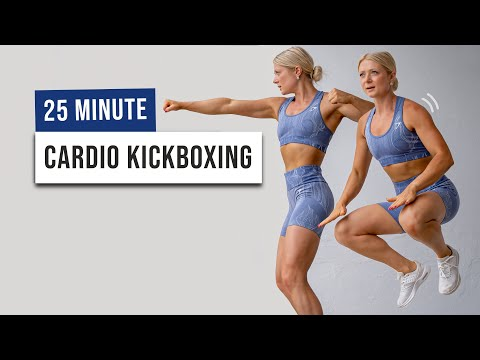 25 MIN CARDIO KICKBOXING WORKOUT to Burn Calories and Have Fun – No Equipment, Super Sweaty